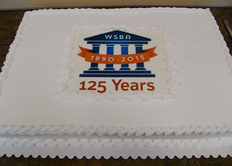 WSBA's 125th anniversary cake.