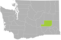 Map of Adams County in Washington
