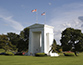 Peace Arch separating the U.S. from Canada