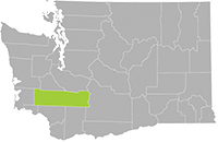 Washington map showing Lewis County