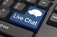 Live chat button on key board