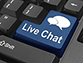 Live chat button on computer keyboard