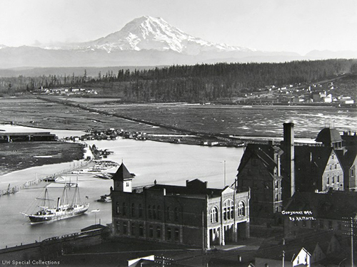 Mt. Rainier from Tacoma in 1894