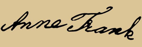 Anne Frank's signature. Courtesy of Wikimedia Commons.