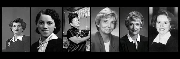 Lady Willie Forbus , Lillian Walker, Ruby Chow, Betty Bracelin, Carolyn Dimmick, and Barbara Durham