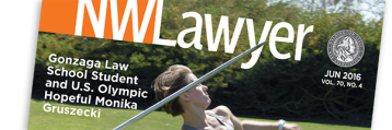 Cover of NWLawyer June 2016