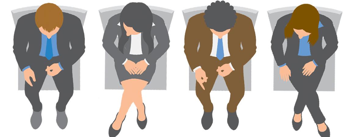 Illustration of four attorneys